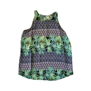 Old Navy women palm print top